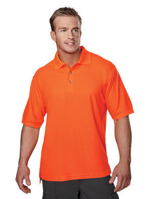 Tri-Mountain Men's 100% Poly Ansi Pique Polo Shirt-1