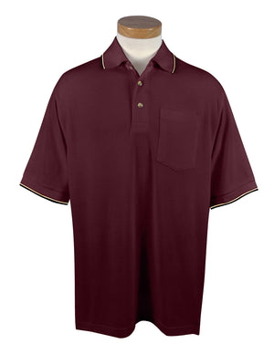Tri-Mountain Men's 7.8Oz. 60% Cotton/40% Polyester Golf Shirt With Pocket