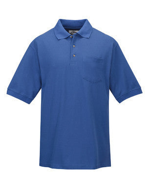 Tri-Mountain Men's Combed Cotton Pocket Pique Polo Shirt-1