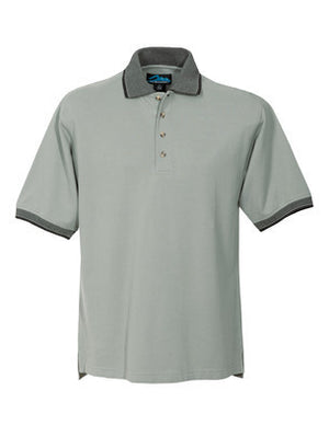 Tri-Mountain Men's Jaquard Polo, Trim Collar & Cuffs