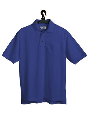 Tri-Mountain Men's 7oz 60/40 Stain Resistant Pique Polo W/Pocket-1