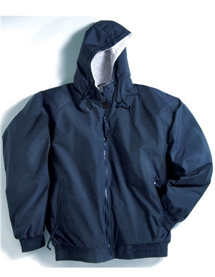 Tri-Mountain Hooded Nylon Jersey Lined Jacket-1