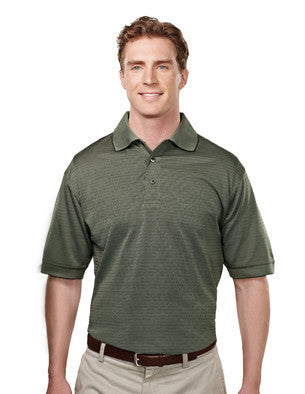 Tri-Mountain Men's 4.7Oz 100% Poly Polo With Basket Pattern-1