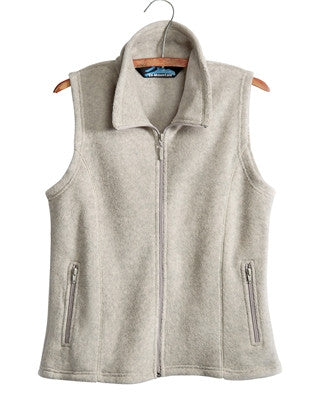 Tri-Mountain Ladies Sleeveless Fleece Vest-1