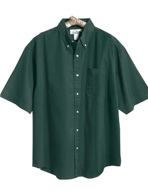 Tri-Mountain Men's Short Sleeve Twill Shirt With Pocket