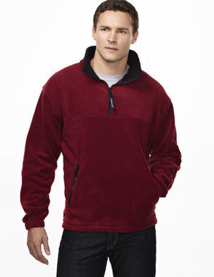 Tri-Mountain Men's Panda Fleece 1/4 Zip Pullover Sweatshirt