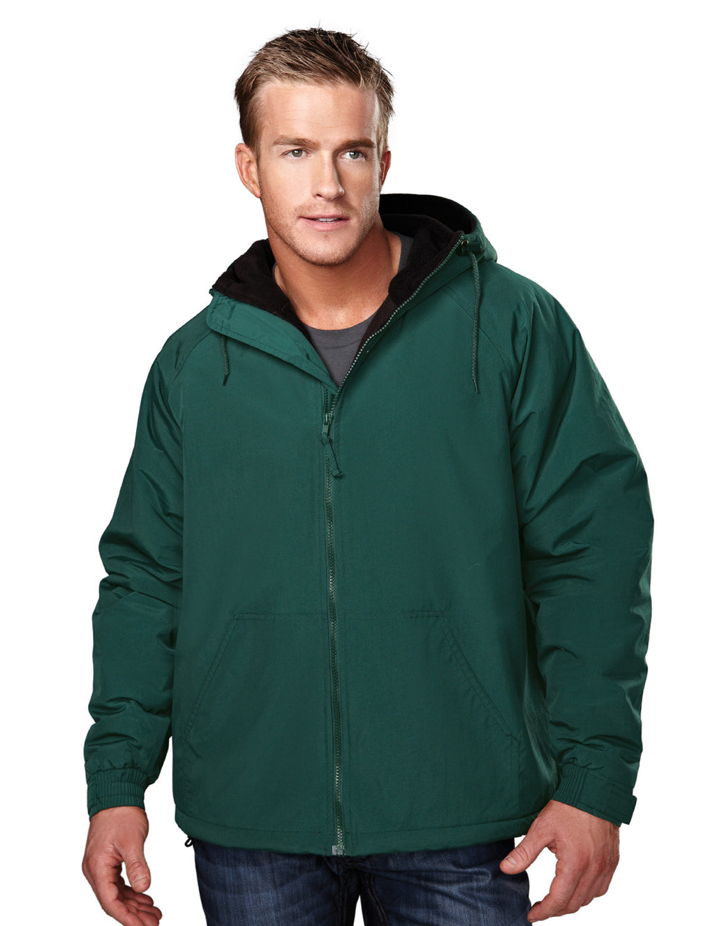 Tri-Mountain Fleece Lined Hooded Jacket-1