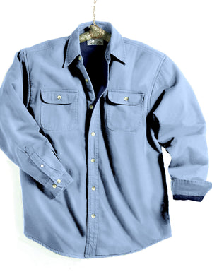 Tri-Mountain Fleece Lined Blue Denim Shirt