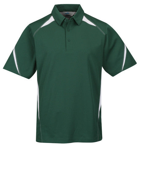 Tri-Mountain Men's 2-Tone 100% Poly Birdseye Mesh Polo-1