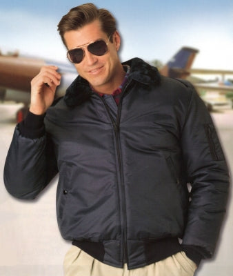 United Pioneer Deluxe B-15 Bomber Jacket w/Pile Collar