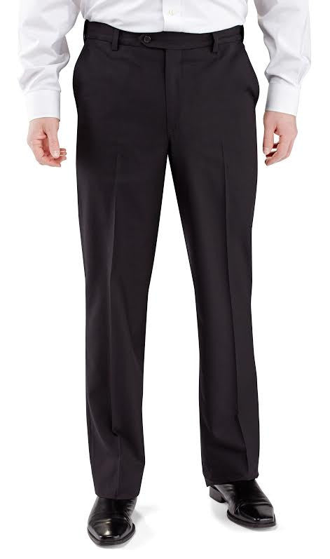 Winthrop & Church Plain Front Polyester Wool Dress Pant-1
