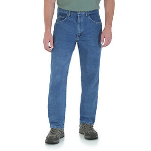 Wrangler Men's Blue Stretch Denim Jeans