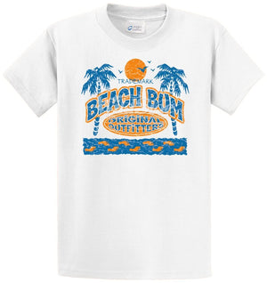 Beach Bum - Palm Trees, Sun Printed Tee Shirt