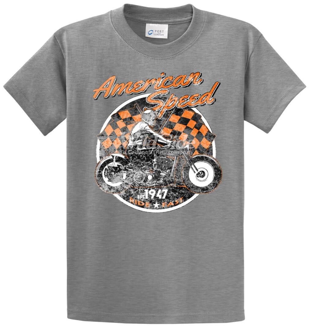 American Speed W/Skeleton Printed Tee Shirt-1