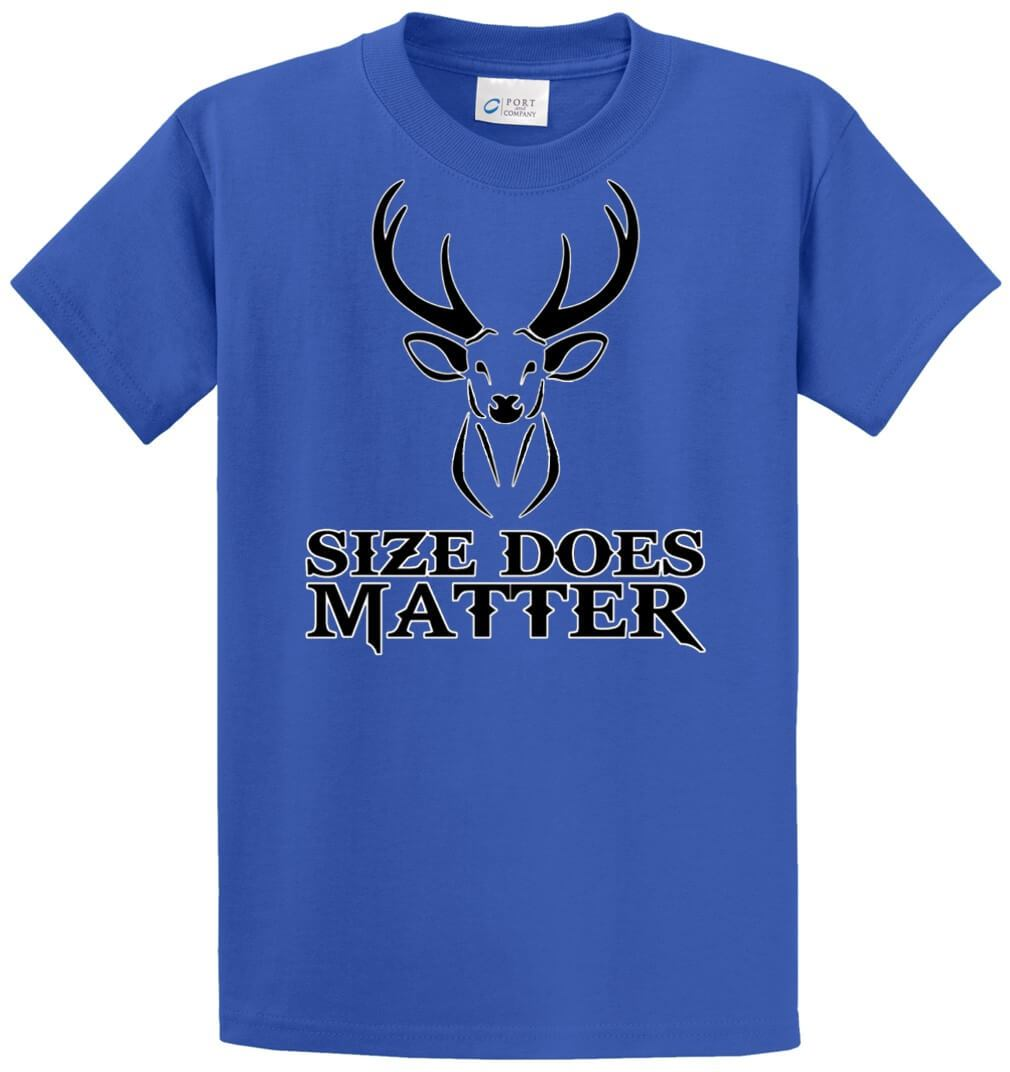 Size Does Matter - Buck Printed Tee Shirt-1
