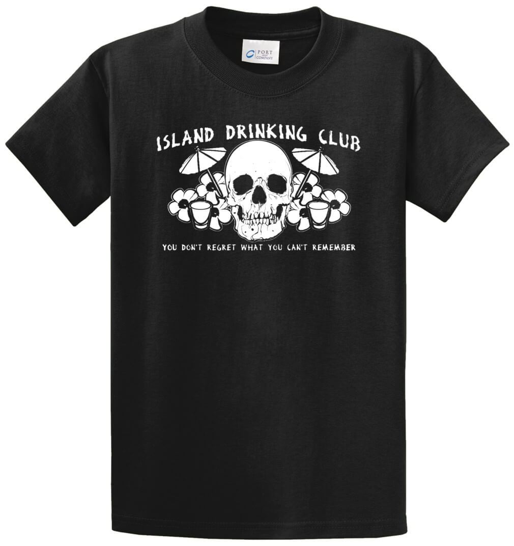 Island Drinking Club - You Don'T Regret Printed Tee Shirt-1