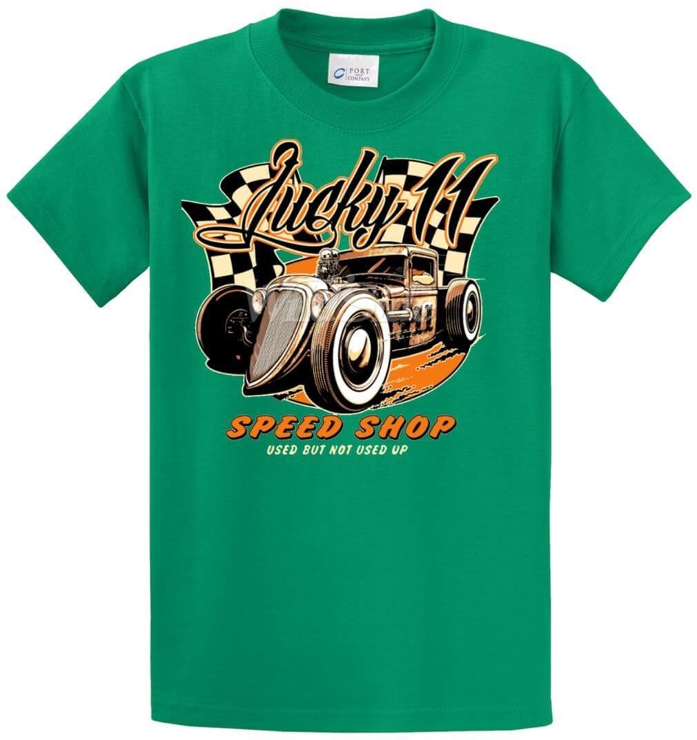 Lucky 11 Speed Shop - Hotrod Printed Tee Shirt-1