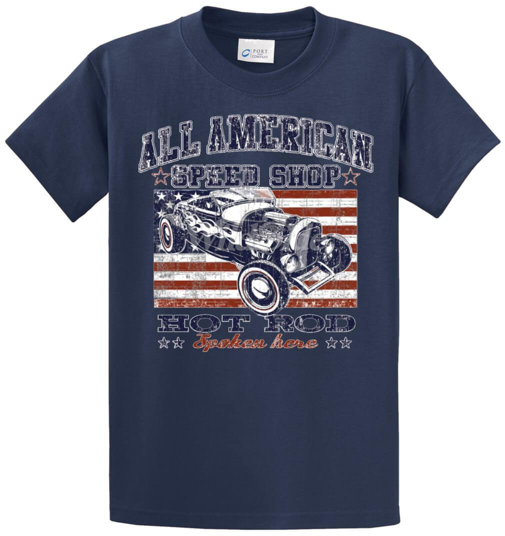All American Speed Shop Printed Tee Shirt-1