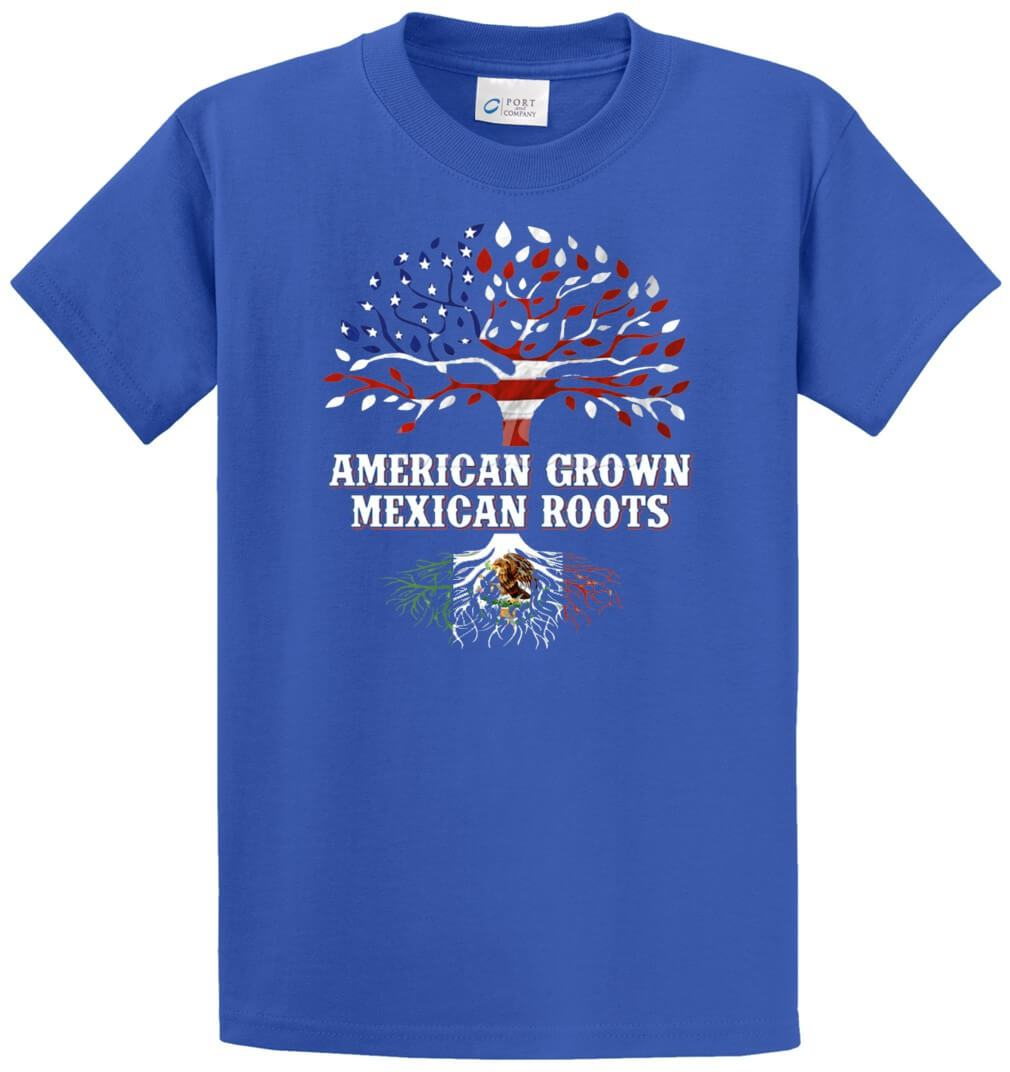 American Grown – Mexican Roots Printed Tee Shirt-1