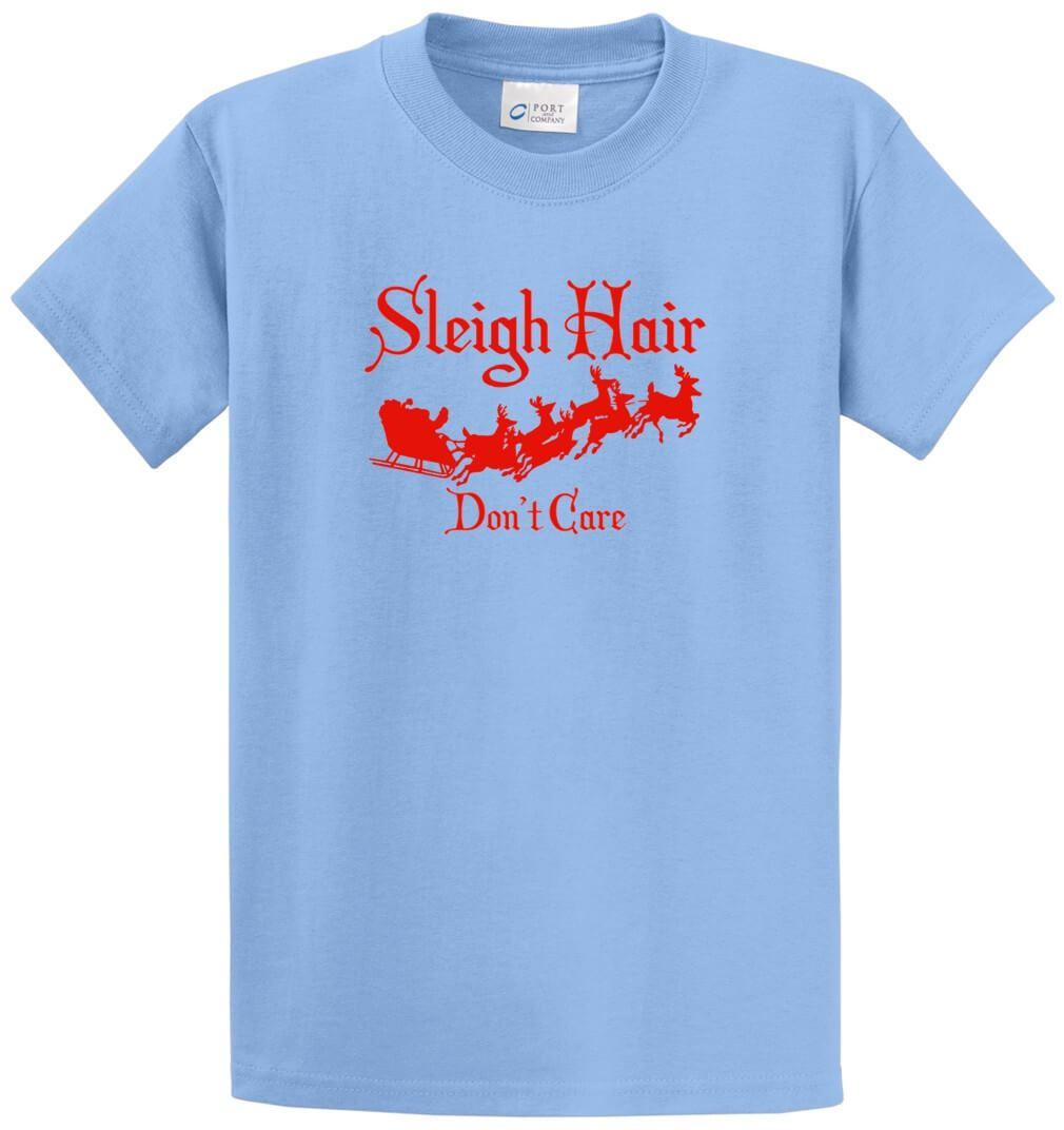 Sleigh Hair Don'T Care Printed Tee Shirt-1