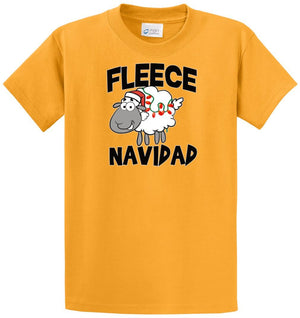 Fleece Navidad Christmas Sheep Printed Tee Shirt