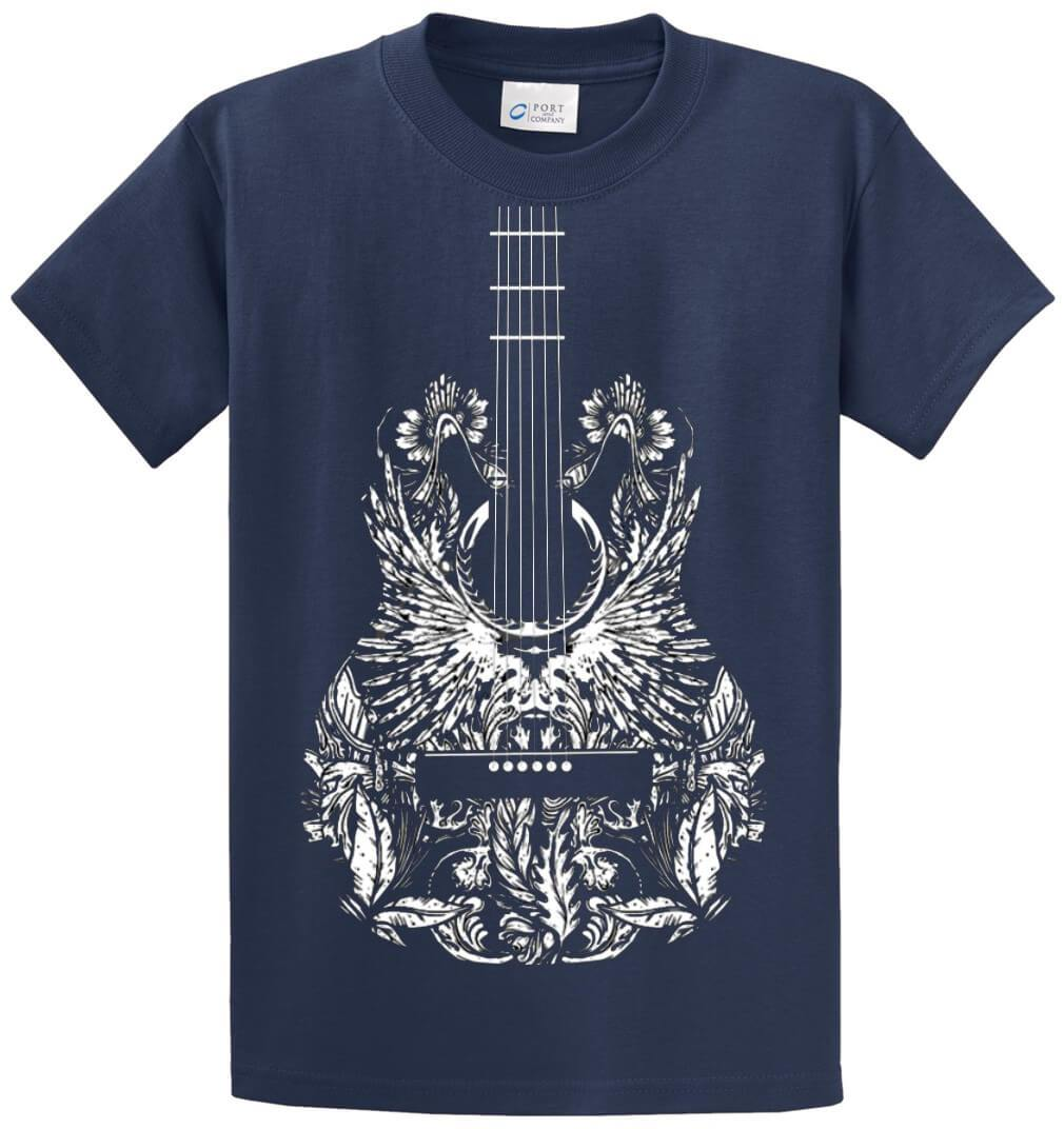 Bandana Guitar (Oversized) Printed Tee Shirt-1