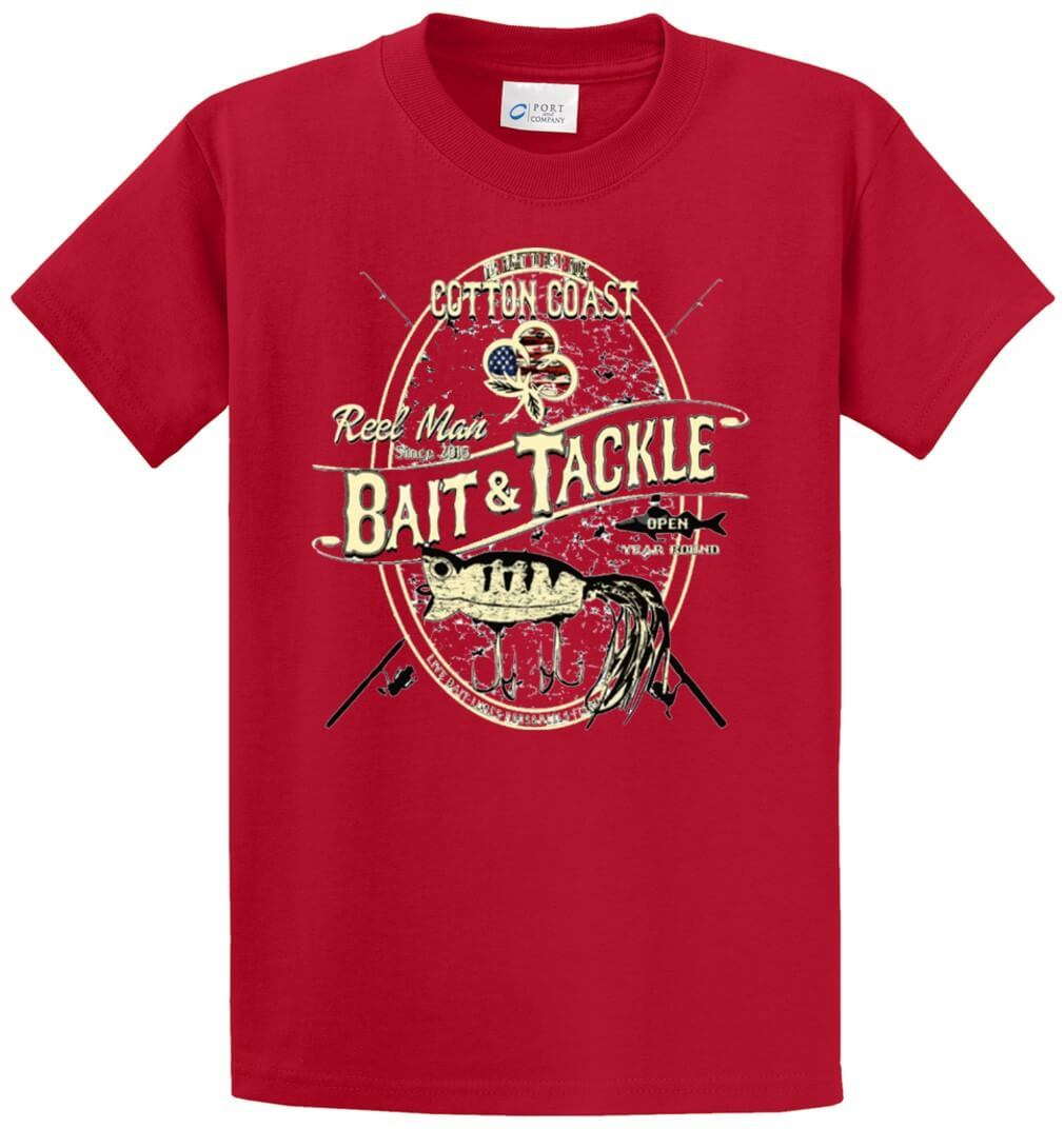 Reel Man Bait And Tackle Printed Tee Shirt-1