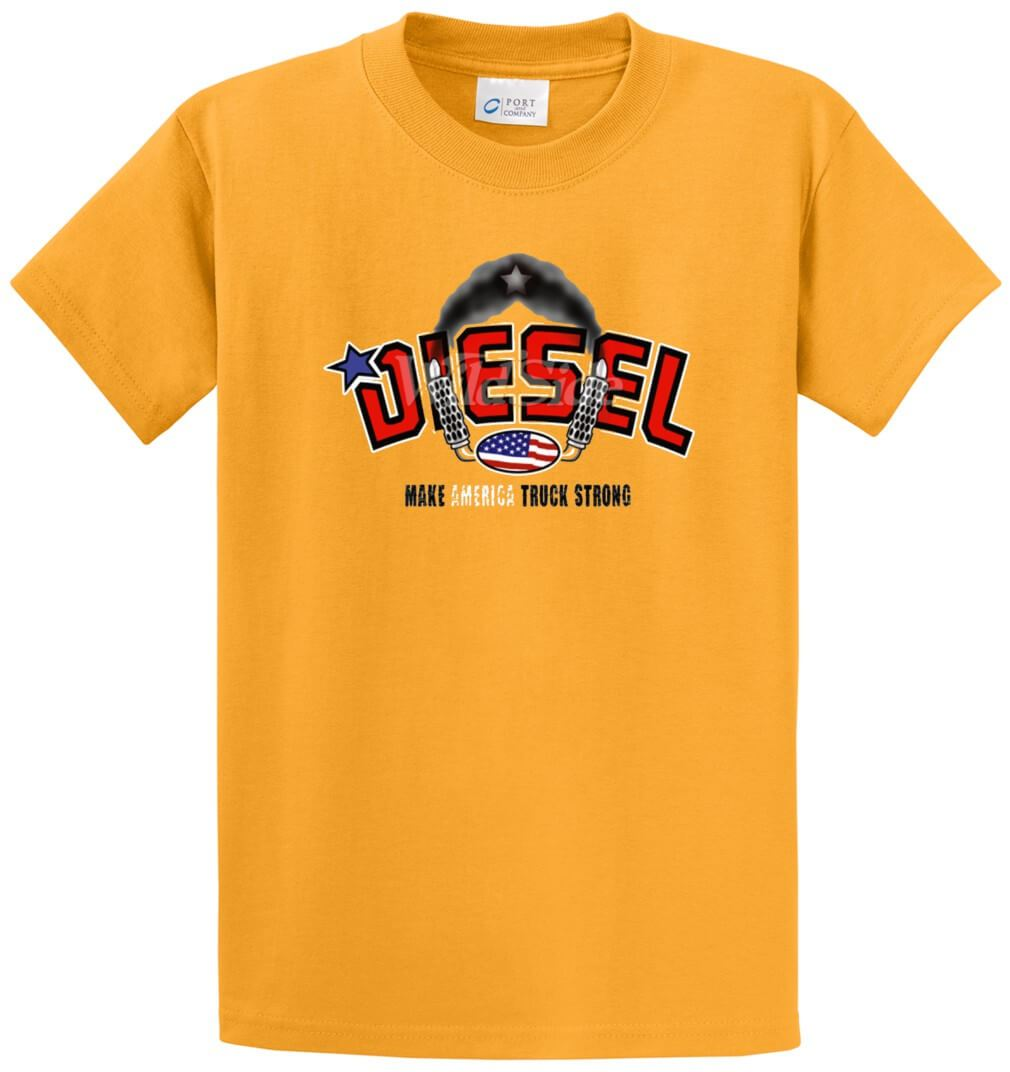 Diesel Make America Truck Strong Printed Tee Shirt-1