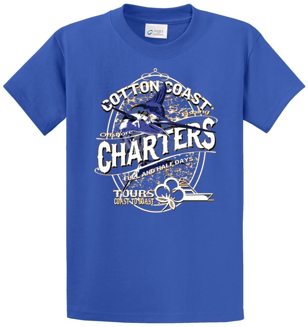 Cotton Coast Offshore Charters Printed Tee Shirt-1