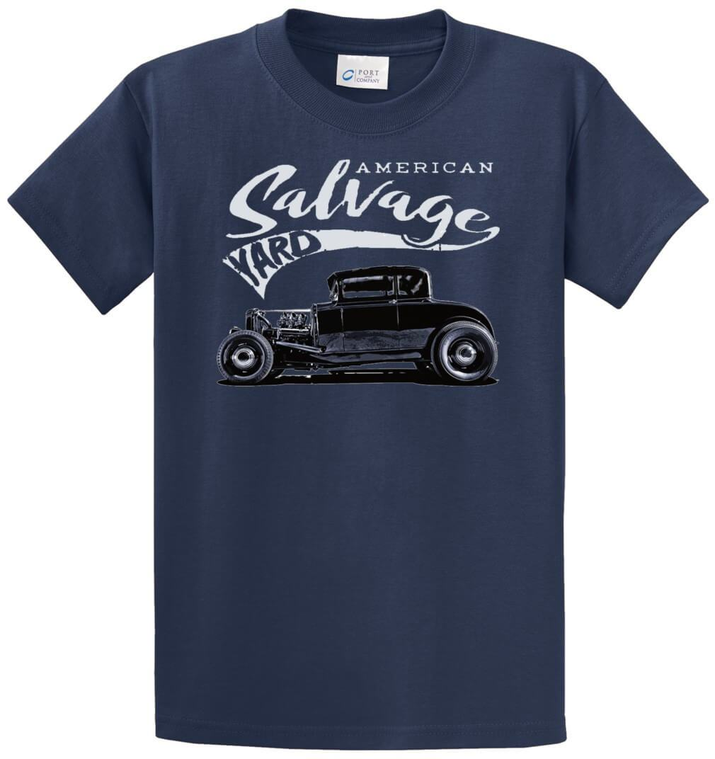 American Salvage Yard Rat Rod Printed Tee Shirt-1