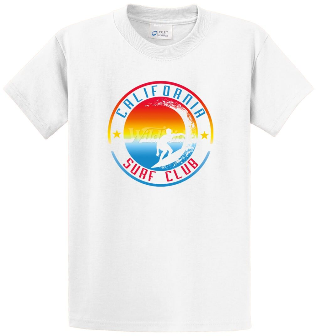California Surf Club Printed Tee Shirt-1