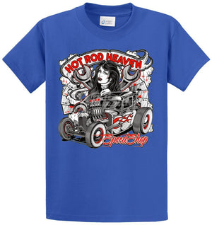 Hot Rod Heaven Speed Shop Printed Tee Shirt