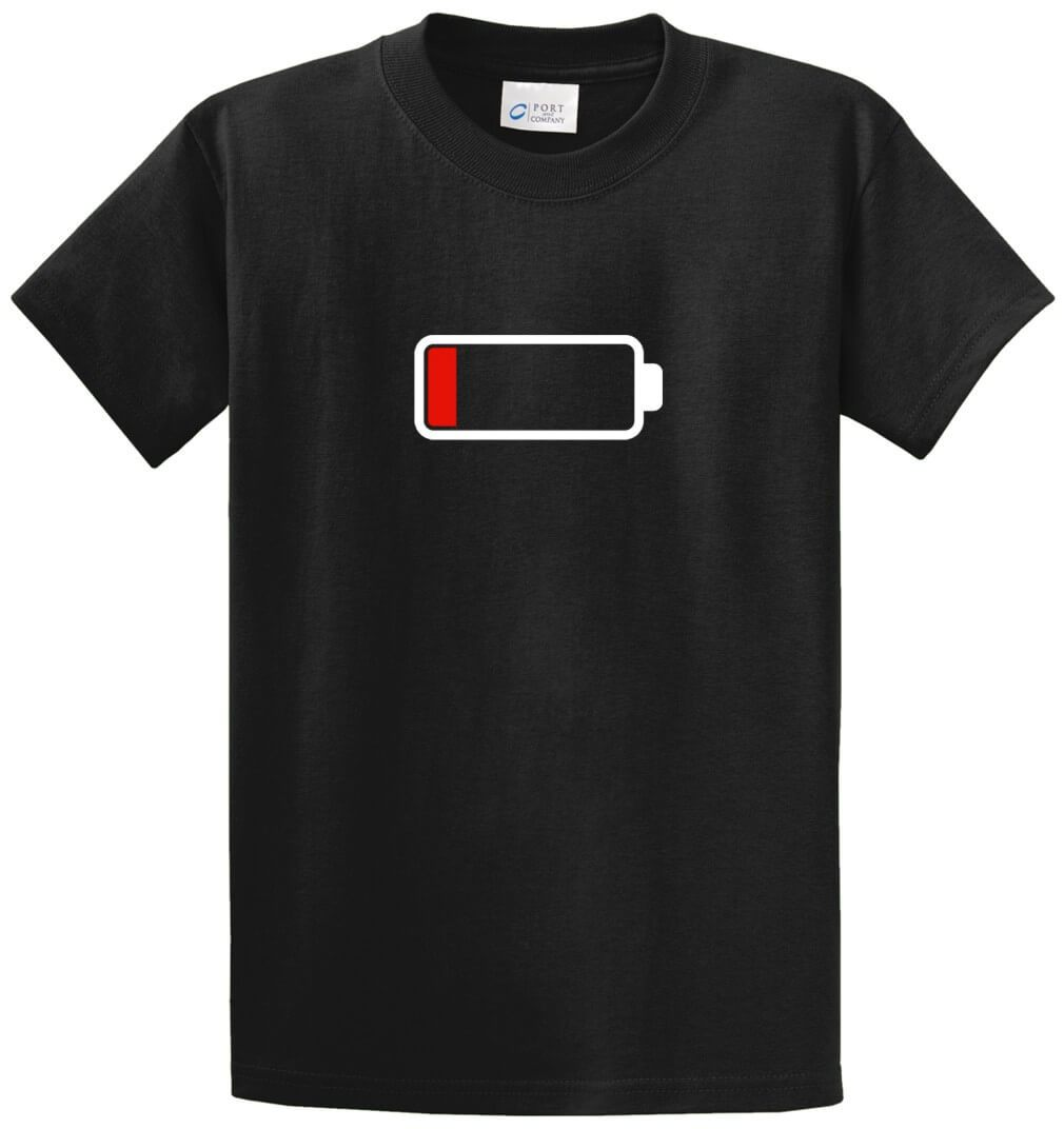 Low Battery Printed Tee Shirt-1
