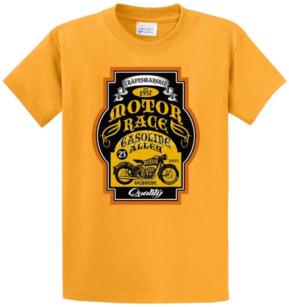 Craftsmanship Motor Race Quality Printed Tee Shirt-1
