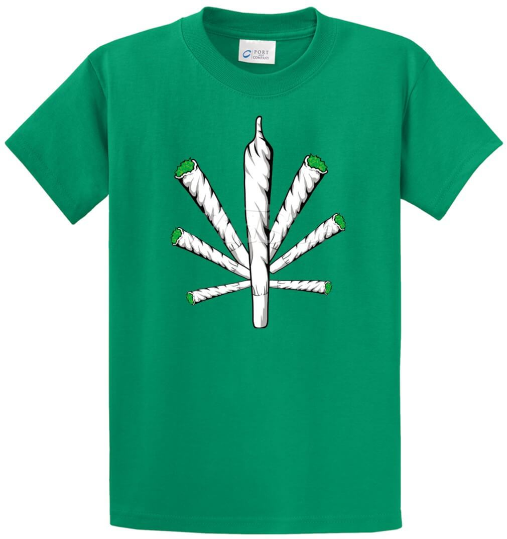 Pot Leaf Joints Printed Tee Shirt-1
