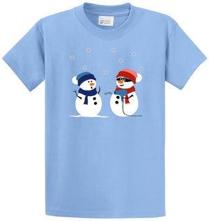 Snowman Stick Up Printed Tee Shirt