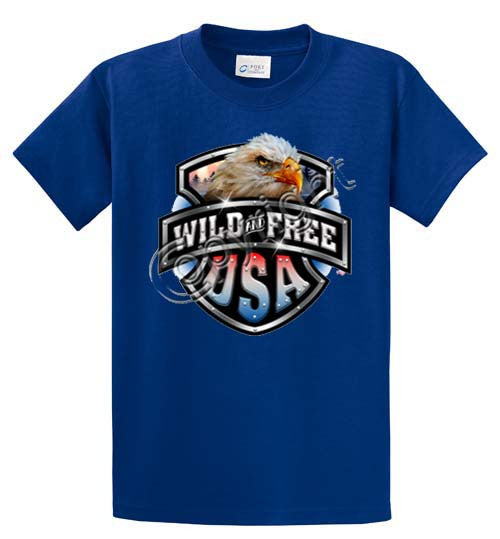 Wild & Free-Eagle/Shield Printed Tee Shirt-1