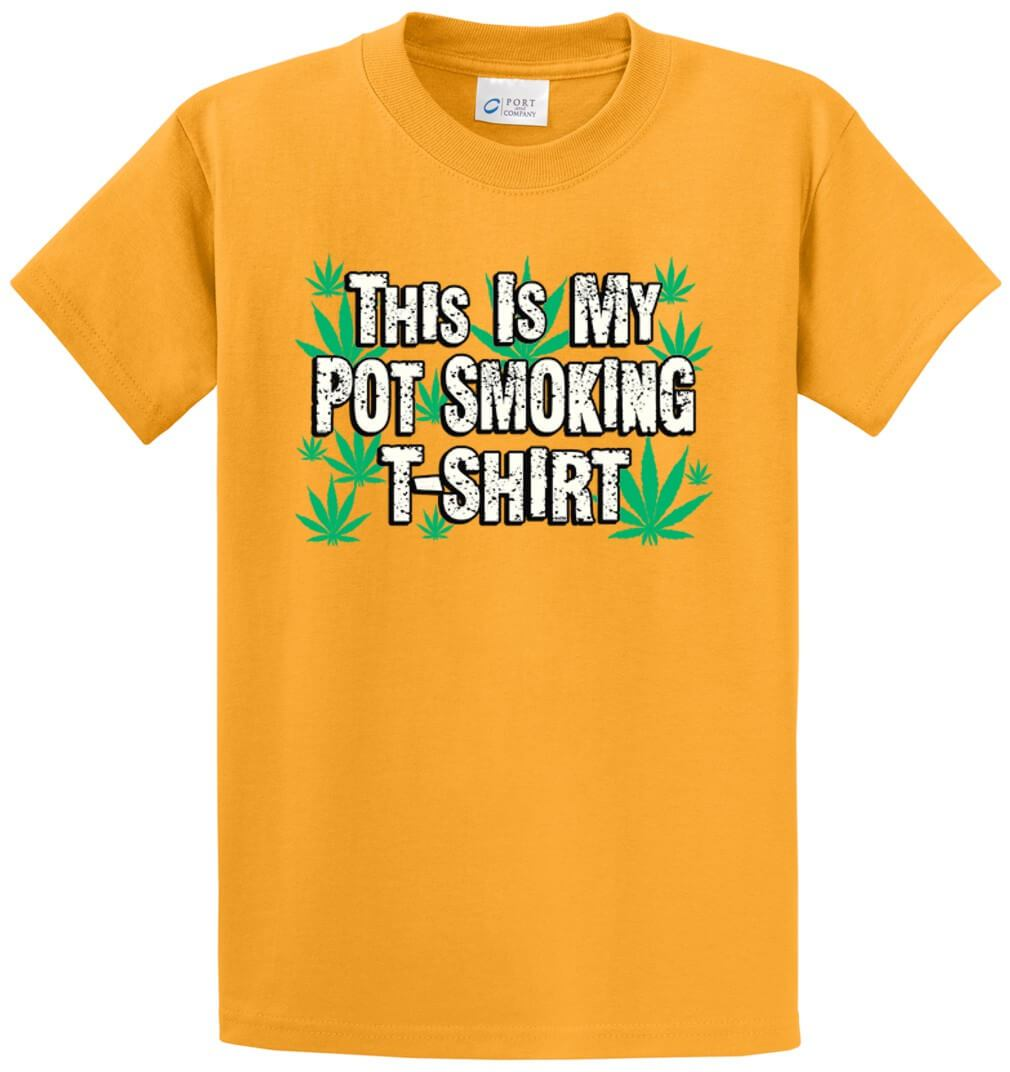 Pot Smoking Shirt Printed Tee Shirt-1