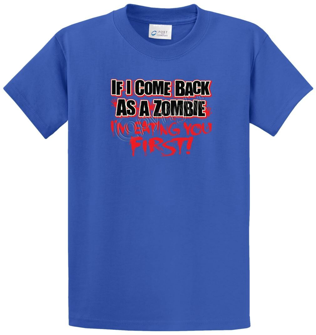 Come Back As A Zombie Printed Tee Shirt-1