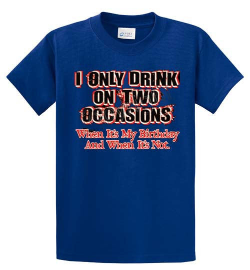 I Only Drink Printed Tee Shirt-1