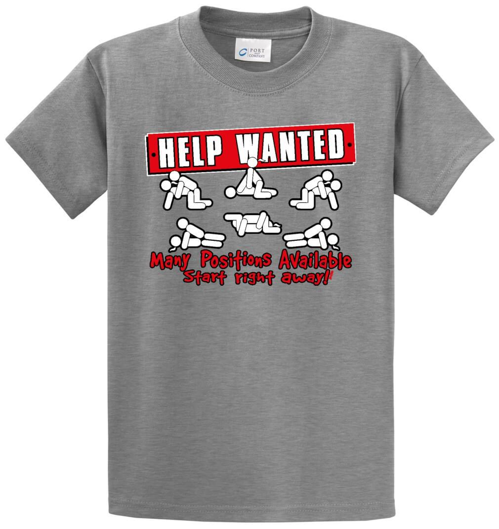 Help Wanted Printed Tee Shirt-1