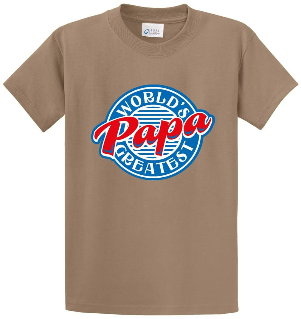 Worlds Greatest Papa Printed Tee Shirt-1