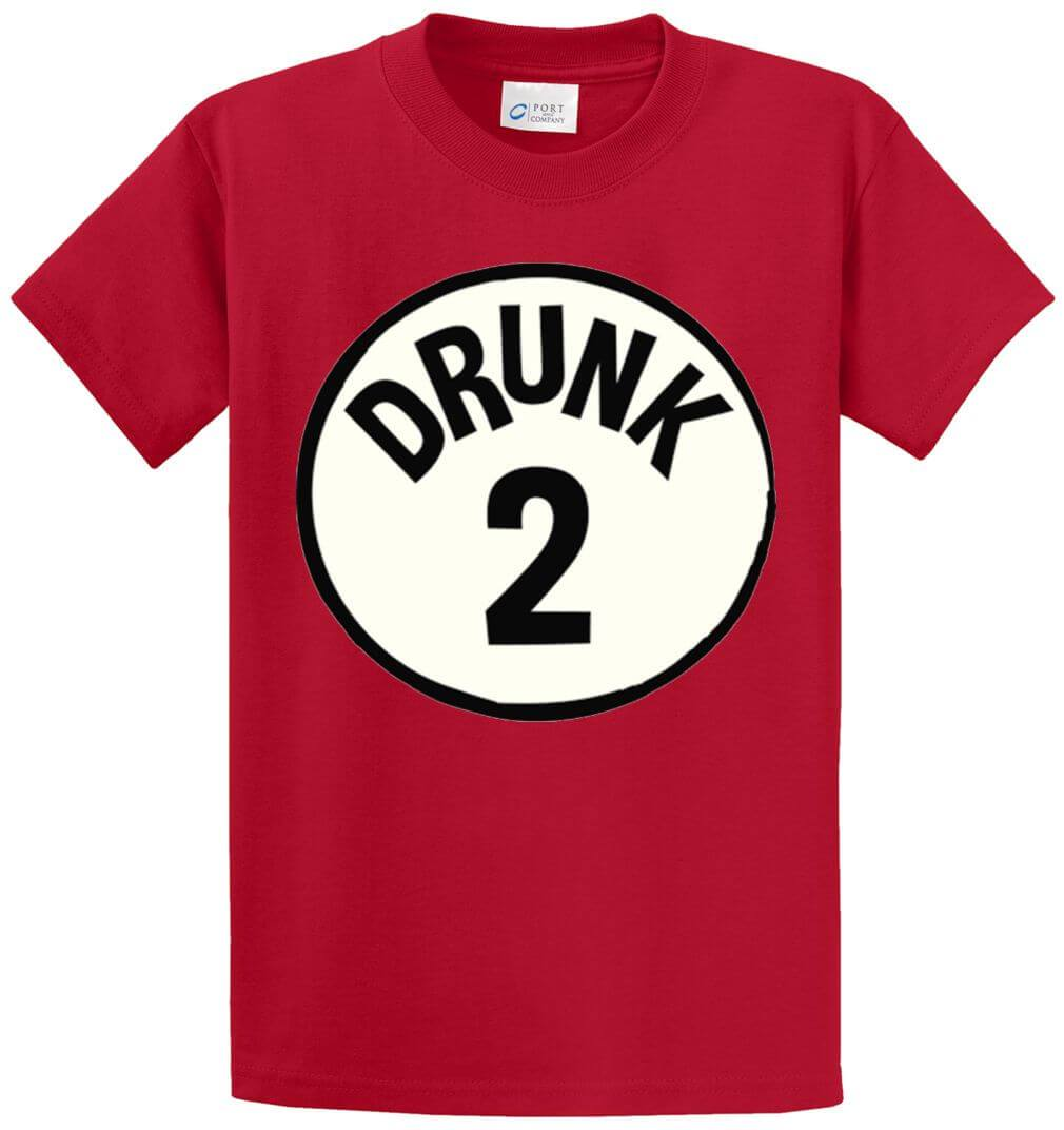 Drunk 2 Circle Printed Tee Shirt-1