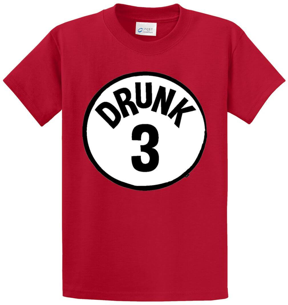 Drunk 3 Circle Printed Tee Shirt-1