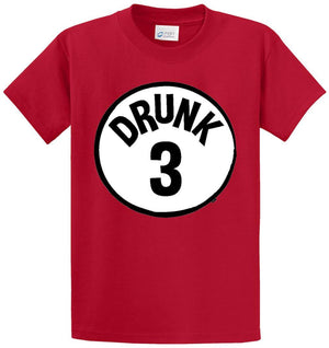 Drunk 3 Circle Printed Tee Shirt