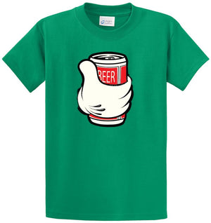 Cartoon Hand Beer  Printed Tee Shirt