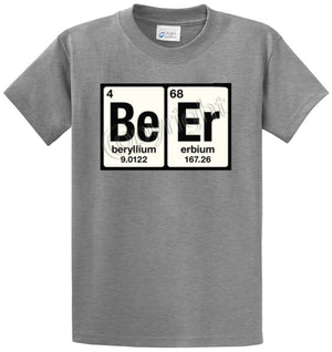 Beer Periodic Table Printed Tee Shirt
