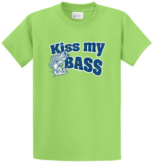 Kiss My Bass Printed Tee Shirt
