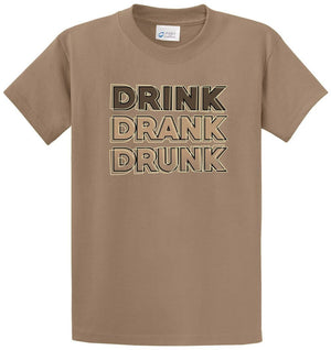 Drink Drank Drunk Printed Tee Shirt