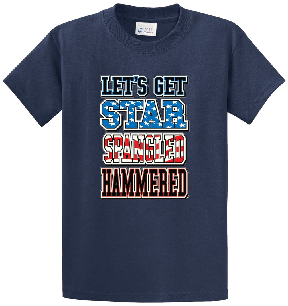 Lets Get Star Spangled Hammered Printed Tee Shirt-1